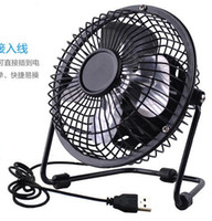 laptop desk - Portable PC Notebook Laptop Mini Desk Metal Table USB Powered Cooler Cooling Fan Inch USB fan Candy color Can Turned degree rotation