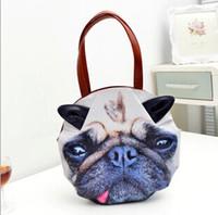 animal print handbags - Women Animal Print Tote Bags Dog Cat Shape Shoulder Bags Top Zipper Closure Leather handbags