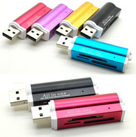 Wholesale lighter shaped All in one USB Multi Memory Card Reader for Micro SD TF M2 MMC SDHC MS KZ