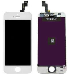 En Stock! Expédition rapide en noir et blanc à écran tactile en verre de remplacement Digitizer LCD Assemblée pour l'iPhone 5 5C 5S DHL gratuit Dans les 24 heures