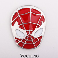 Wholesale Vocheng NOOSA Chunk Snap Button DIY Noosa Accessories for Jewelry Spider Man Jewelry Vn