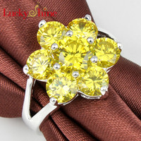 Wholesale fashion shopping silver plated garnet Dazzling yellow nice rings Jewelry multiple choice R0150