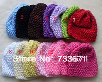 Wholesale fashion elastic baby headband and baby hat