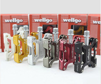 Wholesale Newest wellgo KC001 Aluminum Alloy bearing City bicycle Pedal Mountain bike Pedals with box MTB bike parts