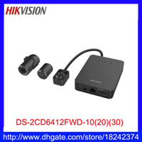 Wholesale DHL hikvision L shaped sensor MP WDR Pinhole Covert Network Camera DS CD6412FWD with poe Built in Micro SD card