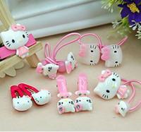 Wholesale Fashion Cartoon Hair Accessories For Girls Cute Pink Hairpins Girl Headwear Kids Cartoon Band Clips Tie Rope