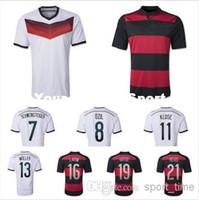 Wholesale 2014 World Cup Champion German Jerseys Top Thailand Germany Home amp Away Soccer Jerseys OZIL Reus Muller Schweinsteiger Klose Football Shirt