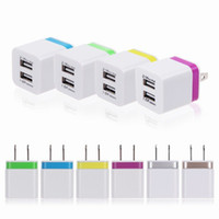 Wholesale MN Wall Charger Adapter A A Dual USB Ports US Plug For iphone ipod Samsung LG