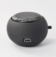 Wholesale Portable pocket Mini Hamburger Speaker Stereo speakers for iPhone iPad iPod Laptop PC MP3 Audio Amplifier