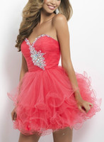 hot pink butterfly - Hot Sale Sleeveless Party Homecoming Dresses Strapless Sweetheart A line Short Light Pink Tulle Butterfly Beaded Cocktail Dresses W147228