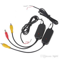 Cheap Wholesale - 2.4G Wireless Color RCA Video Transmitter Sender and Receiver Kit for Vehicle Car Rearview Monitor DVD to Reverse Camera