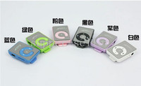 Wholesale Mini Mirror Clip MP3 C shape with TF card Sport Pod Player WIHTOUT SCREEN Lecteur Reproductor Leitor mp3 player