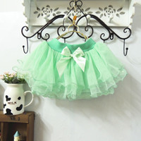 Cheap Wholesale - Mini Skirt Baby Girls Skirts Tutus Pleated Skirt Children Clothing Fashion Lace Princess Skirts Kids Cute Bowknot Short Skirt