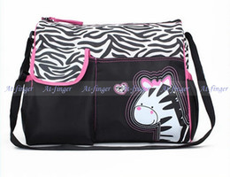 Wholesale New Zebra Multifunctional Nappy Mummy Bag Maternity Handbag Baby Diaper Bags for Mom Tote Organizer J0020