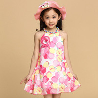 Cheap wholesale Foreign trade girls skirts sweet princess dress Girls dress children's clothing girl flower skirt