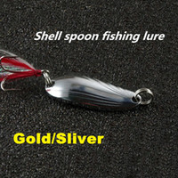 Cheap Hot Fishing Lure Mixed color Size Weight  Hook  Metal Spoon Lures hard bait fishing tackle spinner bait Free Ship