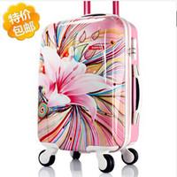 Wholesale Luggage inches universal wheels trolley luggage travel bag luggage suitcase ultra light female password box