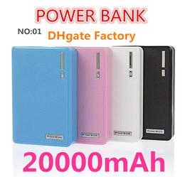 Wholesale Vente en gros Le style le plus bas de portefeuille avec la banque de puissance LED mAh Batterie externe portable Pack de sauvegarde Universal Dock Dual USB free ups01
