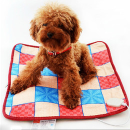 Wholesale 220V Adjustable Pet Electric Pad Blanket for Dog Cat Warmer Bed Dog Heating Mat amp Drop shipping