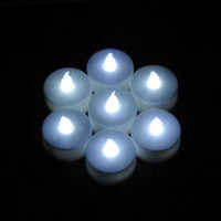 Wholesale Flameless White LED Tealight Tea Candles Light Battery Operated for Wedding Birthday Party Decoration