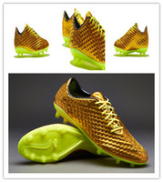 Wholesale 2014 World Cup New Arrivals Neymar Exclusive Hypervenom Phantom Premium FG Gold Volt Black Mens Outdoor Soccer Shoes Brand Mens Sport Shoes