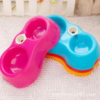 Cheap BX00011Pet utensils pet bottle plastic pet bowl pluggable dual automatic watering bowl dog bowl