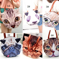 Wholesale Fashion New Designs Dog Cat Panda Cartoon Animal Prints Women s HandBags Shoulder Totes Bag Fashion Bags Messenger Bag