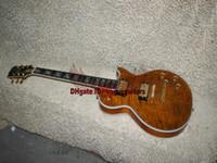 Wholesale Newest Custom shop LP custom brown color Supreme Ebony fingerboard Electric Guitar