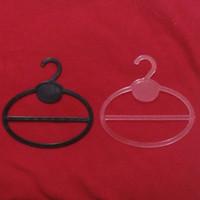 plastic hanger - 13 cm transparent black Plastic Round Hooks Scarf Hangers