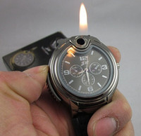 Wholesale 2015 new arrival Cigarette Butane Lighter Watch black silver golden men s quartz watch for months warranty