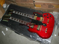 Cheap New Arrival Red Custom Double Neck Electric Guitar High Quality Wholesale