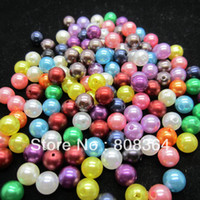 Wholesale Random Mixed Pearl Imitation Round Beads mm Dia W00815 X