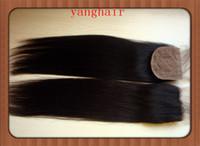 Cheap Cheap Stock Brazilian Virgin Human Hair Silk Base Closure 4x4 free Part Silk Top Lace Closures Straight Free Style