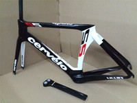 Cheap 2013 Cervelo Bicycle carbon frame S5 Red WHITE black team VWD road carbon fiber frame+fork+aero seatpost+clamp+headset, free shipping!!