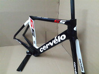 Cheap 2013 Cervelo Bicycle UD carbon frame S5 Red WHITE black team VWD road carbon fiber frame+fork+aero seatpost+clamp+headset, free shipping!!