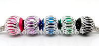 aluminium bracelet - Mixed Carved Lantern Aluminium Beads Fits Charms Bracelet x9mm W00067 X