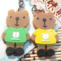 Cheap romantic plastic cement cellphone accessory lovers MOTOO bear Gift& free shipping