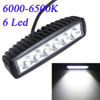 Cheap 18W Spot Beam LED Camping Light Work Light Lamp Strip Light for Jeep SUV ATV Off-road Truck Universal Vehicle Bulbs 6000-6500K