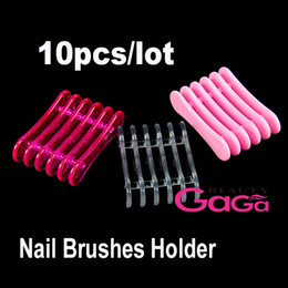 Wholesale Acrylic Brush Holder Plastic Nail Art Makeup Design Craft Acrylic UV Gel Brush Pen Rest Holder Stand High Quality Convenient Nail Art Tool