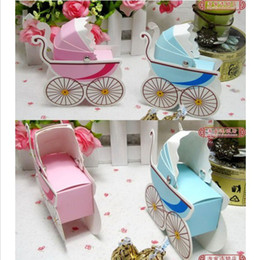 Wholesale Hot sell Wedding Favor Box Bomboniere Baby Shower Favors Baby Day Out Candy Boxes