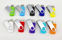Promotion Baratos-50pcs La promoción pendrive 64GB popular de la impulsión del flash del USB BUENA taza giratoria de la memoria del estilo del DISCO DE REGALO con DHL Fedex