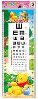Wholesale 32 cm Cartoon Kids Sticker Charts Height Ruler Also Sight Vision Measurement Mixable Models Resell Packing