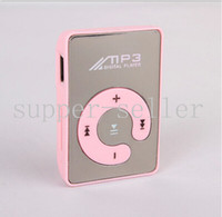 Wholesale Mirror Clip MP3 Player New Colourful Super Mini MP3 Players UP to GB TF Card