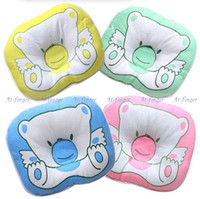 Wholesale 1pcs Cotton kid Baby infant neck pillow Side Sleeper Pro Pillow Cotton four colors J0024