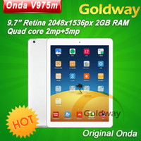 Wholesale Original Onda V975M tablet pc IPS III Retina x1536 pixel Quad core GB RAM MP Camera Android Root Blutooth HDMI