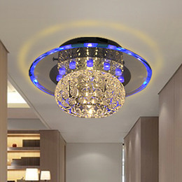 Wholesale 3w LED ceiling light hallway crystal aisle lights entrance lights corridor stair lamps balcony living room lights