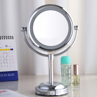 Wholesale Fashion makeup mirror with led lighting double faced desktop cosmetic mirrors