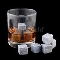 Wholesale New Marble Soapstone Ice Rocks Tumbled Cubes Wine Whiskey Coffee Stones Sets