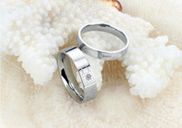 affinity diamond jewelry - hot love top quality new jewelry diamond lock Mutual affinity Titanium steel couples ring exquisite gift