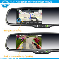 Wholesale Christmas Sales gps navigation rearview mirror touch screen monitor for toyota prius
